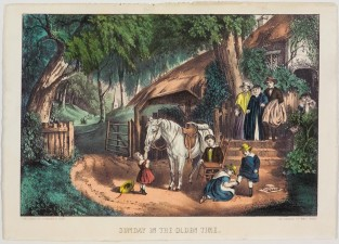 Sunday In The Olden Time, Currier & Ives