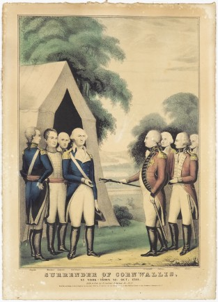 Surrender Of Cornwallis. At York-town, VA Oct. 1781, Nathaniel Currier