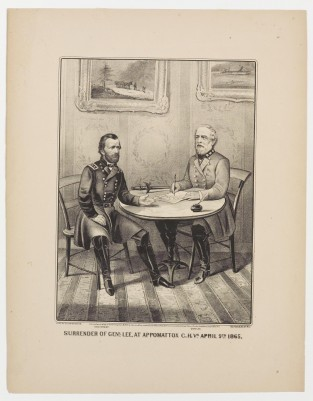 Surrender Of Genl Lee, At Appomattox C.H.VA April 9th 1865, Currier & Ives
