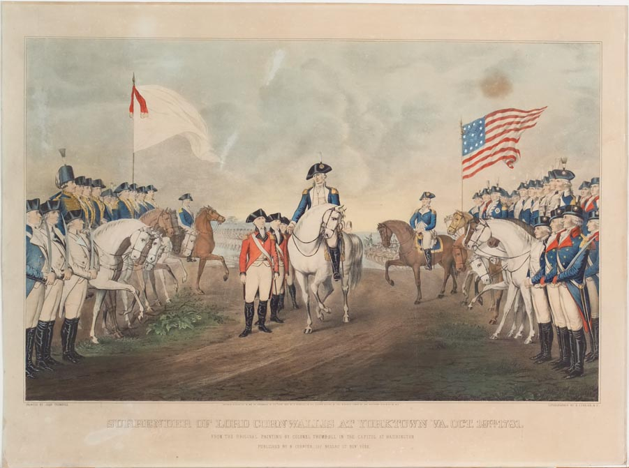surrender of lord cornwallis at yorktown va oct 19th 1781 from the