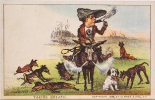 Taking Breath, Currier & Ives