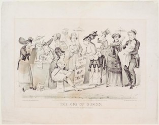 The Age Of Brass Or The Triumph Of Woman's Rights, Currier & Ives