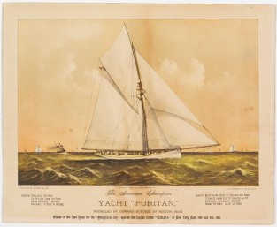 "The American Champion Yacht ""PURITAN"", Currier & Ives"