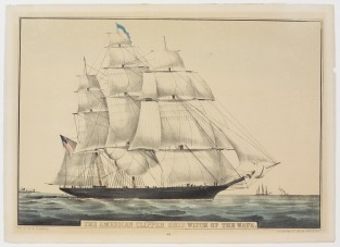 The American Clipper Ship, WITCH OF THE WAVE, Nathaniel Currier