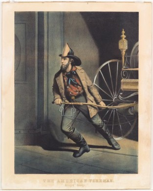 The American Fireman. Always Ready, Currier & Ives