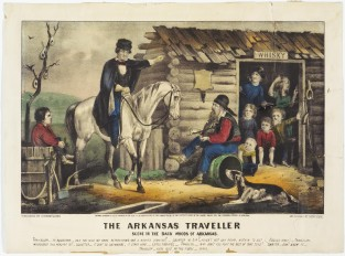 The Arkansas Traveller. Scene In The Backwoods Of Arkansas, Currier & Ives