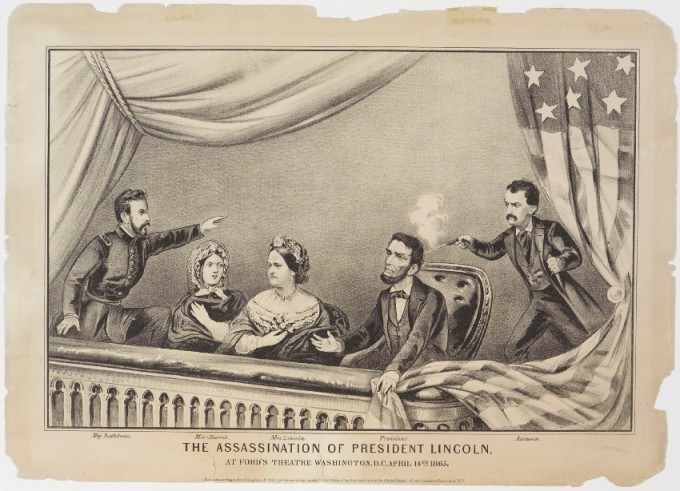 The Assassination Of President Lincoln Currier Amp Ives
