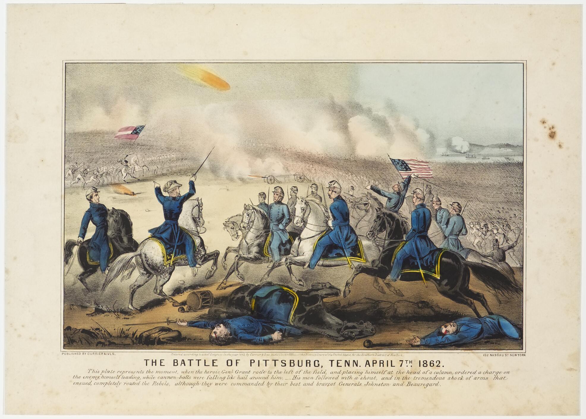 Battle scene in foreground