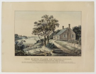 The Birth-Place Of Washington At Bridges Creek, Westmoreland Co.m VA (Feby 22nd 1732, Currier & Ives