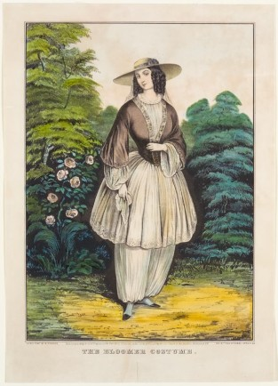 The Bloomer Costume, Nathaniel Currier