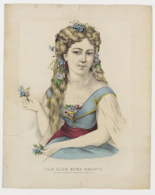 The Blue Eyed Beauty, Currier & Ives