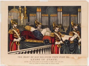 The Body Of His Holiness Pope Pius IX, Currier & Ives