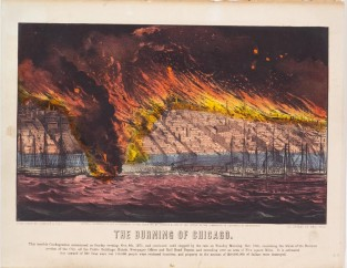The Burning Of Chicago, Currier & Ives