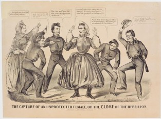 The Capture Of An Unprotected Female, Or The Close Of The Rebellion, Currier & Ives
