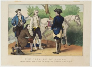The Capture Of Andre. By John Paulding; David Williams And Issac Can Wart At Tarrytown, NY Sept. 23rd 1780., Currier & Ives