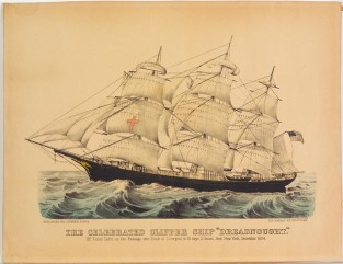 "The Celebrated Clipper Ship ""DREADNOUGHT."" Off Tuskar Light, Currier & Ives"