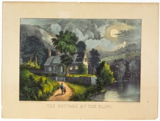 The Cottage By The Cliff, Currier & Ives