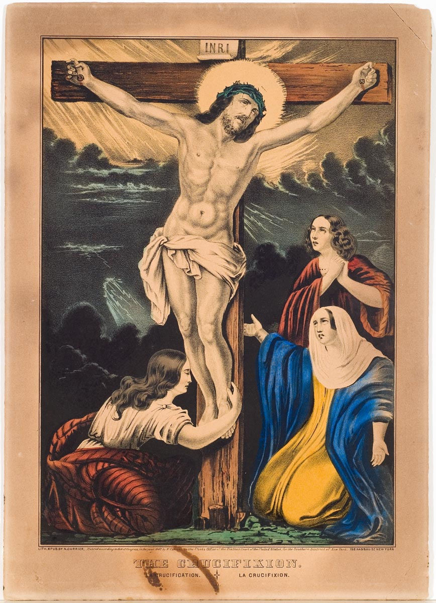 Jesus on cross at center
