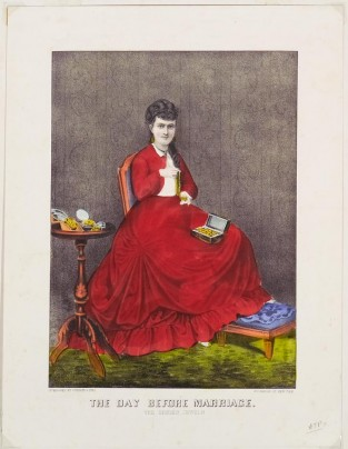 The Day Before Marriage. The Bride's Jewels, Currier & Ives