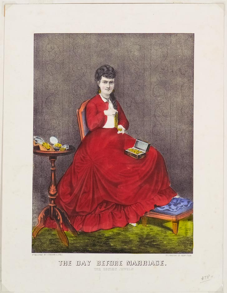 Woman seated on chair at center