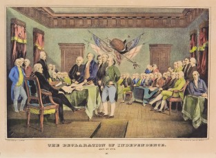 The Declaration Of Independence July 4th 1776, Nathaniel Currier