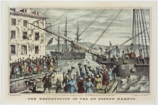 The Destruction Of Tea At Boston Harbor, Nathaniel Currier