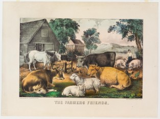 The Farmers Friends, Currier & Ives
