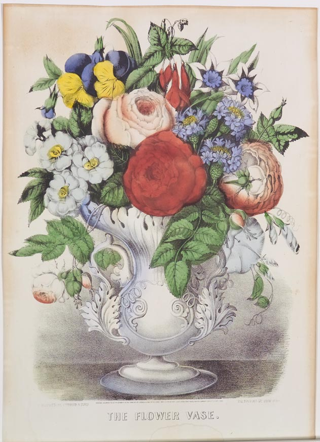 The Flower Vase Currier Ives Springfield Museums