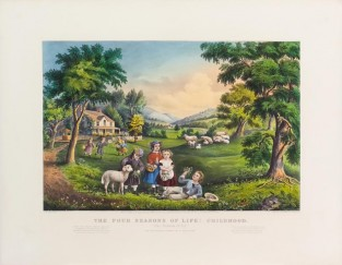 The Four Seasons Of Life: Childhood, Currier & Ives