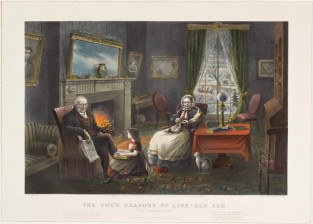 The Four Seasons Of Life: Old Age, Currier & Ives