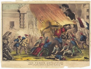 The French Revolution. Burning The Royal Carriages At The Chateau D'Eu. Feby 24th 1848, Nathaniel Currier
