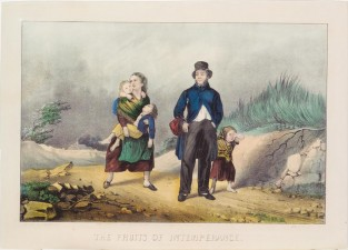 The Fruits Of Intemperance, Currier & Ives