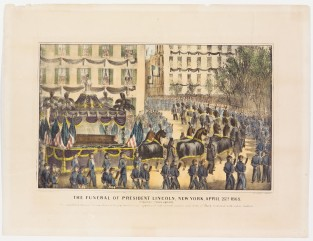 The Funeral Of President Lincoln, New York, April 25th 1865 Passing Union Square, Currier & Ives