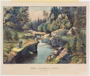 The Garnet Pool. White Mountains, Currier & Ives