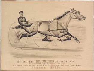 "The Grand Horse St. Julien, The ""King Of Trotters."" By Volunteer, Dam By Sayre's Harry Clay, Currier & Ives"
