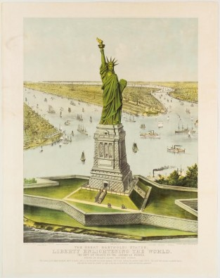 The Great Bartholdi Statue, Currier & Ives