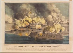 The Great Fight At Charleston, S.C. April 7th 1863, Currier & Ives