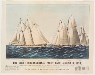 The Great International Yacht Race, Aug. 8,1870., Currier & Ives
