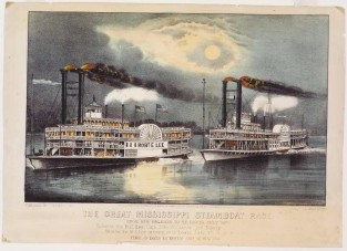The Great Mississippi Steamboat Race From New Orleans To St. Louis, July 1870, Currier & Ives