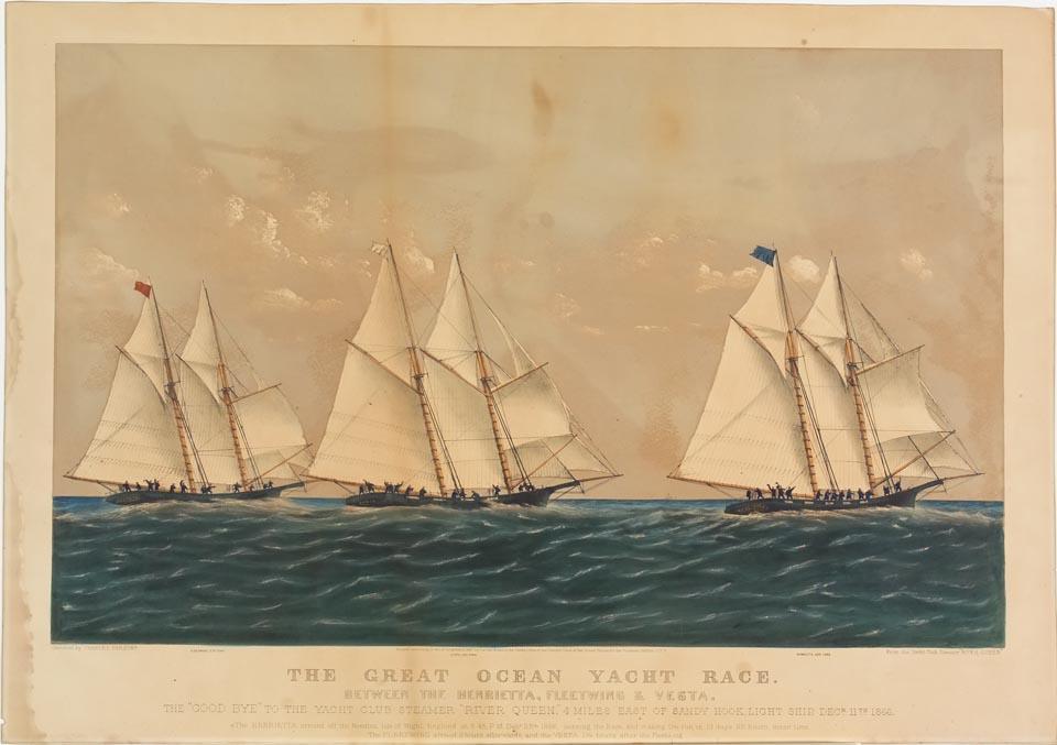 Three ships sailing to left