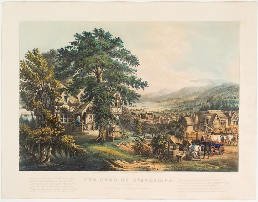 Pastoral village scene