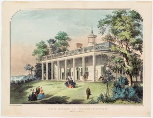 The Home Of Washington. Mount Vernon, VA, Currier & Ives