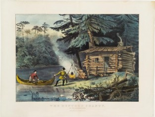 The Hunters Shanty. In The Adirondacks, Currier & Ives