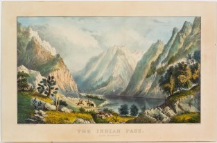 The Indian Pass. Rocky Mountains, Currier & Ives