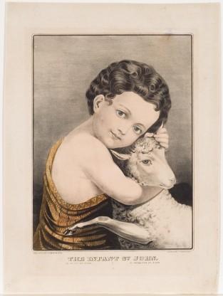 The Infant St. John, Currier & Ives