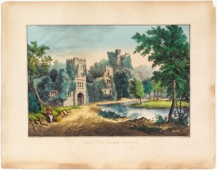 The Ivy Clad Ruins, Currier & Ives