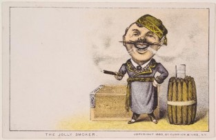 The Jolly Smoker, Currier & Ives