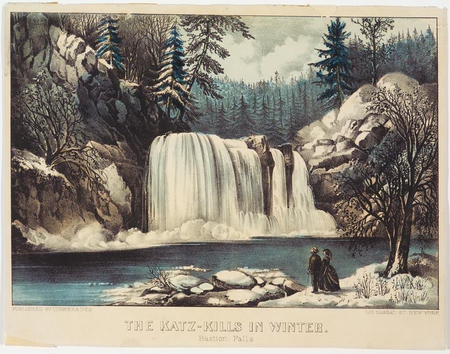 Falls at center