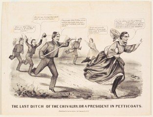 The Last Ditch Of The Chivalry, Or A President In Petticoats, Currier & Ives