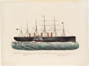 "The Mammoth Iron Steam-Ship ""LEVIATHAN"" 22, 500 Tons, 2600 Horsepower., Currier & Ives"